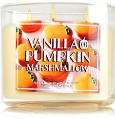 Vanilla Pumpkin Marshmallow 3-Wick Candle - Home Fragrance 1037181 - Bath & Body Works