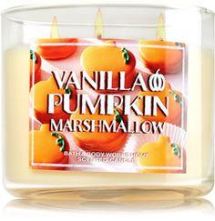 Vanilla Pumpkin Marshmallow 3-Wick Candle - Home Fragrance 1037181 - Bath & Body Works