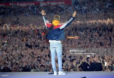 Justin Bieber performs on stage during the One Love Manchester Benefit Concert at Old Trafford on June 4, 2017 in Manchester, England.