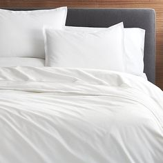Belo White Duvet Covers and Pillow Shams   Crate and Barrel