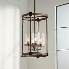 Bridlewood 14 And One Half Inchw Stone Gray And Nickel 4 Light Pendant Entryway Light Fixtures, Entryway Chandelier, Farmhouse Light Fixtures, Chandelier Lamp, Chandeliers, Stairway Lighting, Entry Lighting, Kitchen Lighting, House Lighting