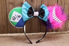Wonderland Mouse Ear Headband with Bow by ModernMouseBoutique