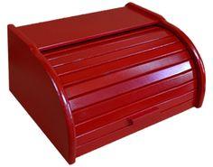Chlebak drewniany duży czerwony