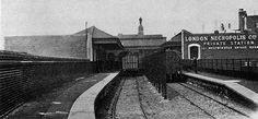 London Necropolis Station at Waterloo opened 13th November 1854 was badly damaged by bombs 11th April 1941 and never used again. This railway was used to transport the dead to Brookwood Cemetery in Surrey due to overcrowded cemeteries in London. The bodies would be transported at night.