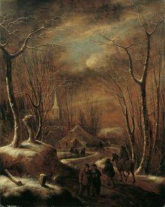 Claes Molenaer, WINTERLANDSCHAFT MIT WANDERERN VOR EINEM DORF., 1610, Auktion 903 Alte Kunst (900 C), Lot 1099