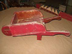 .ANTIQUE VINTAGE PRIMITIVE Wood Wheelbarrel Cart Wagon Old Garden Tools, Primitive, Upcycle, Cart, Antiques, Wood, Ebay, Vintage, Covered Wagon