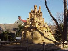 Sand sculptures- one of the seasonal events at Peddler's Village