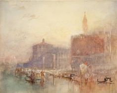 Joseph Mallord William Turner, The Doge's Palace and Piazzetta, Venice 1840