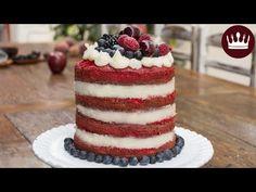 NAKED CAKE RED VELVET COM BEIJINHO   Cozinha do Bom Gosto   Gabi Rossi - YouTube
