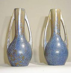 Pair of French Art Deco Ceramic