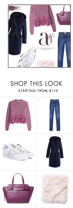"""""""Purple winter"""" by ceci4diplomazy ❤ liked on Polyvore featuring McQ by Alexander McQueen, 7 For All Mankind, adidas Originals, Chicwish, Furla and Yves Saint Laurent"""