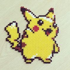 Pikachu perler beads by bassobrevis