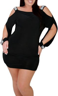 Charming (Plus/Black)-Great Glam is the web's best sexy plus size online store clothing website for 1X 2X and 3X clothes for women and juniors.