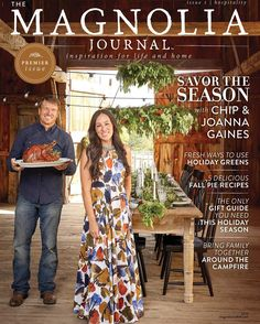 It's official! Magnolia will be releasing the very first issue of our quarterly lifestyle magazine, The Magnolia Journal, in just a few days! Grab your copy at newsstands near you, or order at magnoliamarket.com, beginning October 11th. Subscriptions will open for the first time in spring of 2017, so stay tuned...there's more to come! Be sure to sign up for the newsletter to stay in the know!  #themagnoliajournal