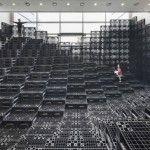 """""""Tectonic Landscapees el ajuste artificial del paisaje para el espacio expositivo (Umi Hall) en el Museo de Arte de Daegu. […]"""