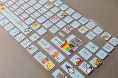 1 Sheet Korean Keyboard Sticker  PVC Sticker  by mieryaw on Etsy