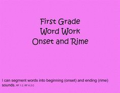 Use this smartboard file to teach your students about hearing onset and rime in words. Start with the concept that words all have a beginning sounds. Progress to identifying the beginning sound in single syllable words. Each picture includes elkonin boxes so students can tap out the sounds they hear in the words.