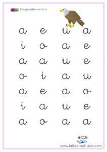 Fichas de vocales - DESCARGAR E IMPRIMIR - La libreta piruleta It Cast, Math, Words, School, Vestidos, Letter Activities, Preschool Math Activities, Learning Letters, Teaching Letters