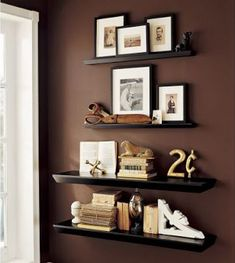 10 Different Ways to Style Floating Shelves | Wall collage, 3d wall ...