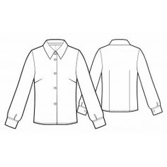Free sewing pattern classic blouse or shirt