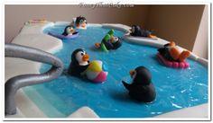 Penguin Pool Party Birthday Cake