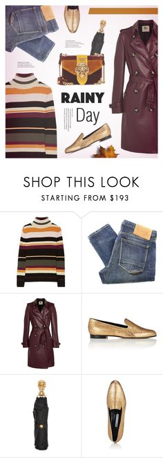 """Splish Splash: Rainy Day Style"" by redflowergirl ❤ liked on Polyvore featuring Paul & Joe, Natural Selection, Burberry, Manolo Blahnik, Alexander McQueen, Prada and rainyday"