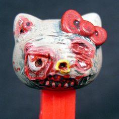 PEZ Zombie Hello Kitty Pez OOAK