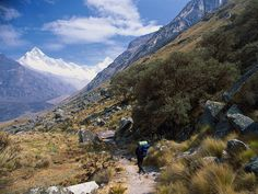 The 30-mile Santa Cruz trek is one of the most popular routes in the Peruvian Andes. Beginning in the charming Peruvian town of Huaraz, the trek crosses the 15,580-foot Punta Union Pass.