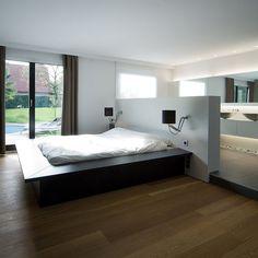 Maison contemporaine / Aménagement design / Suite parentale / Architecte d'intérieur : Agence MAYELLE / Photo : ©Pierre Rogeaux