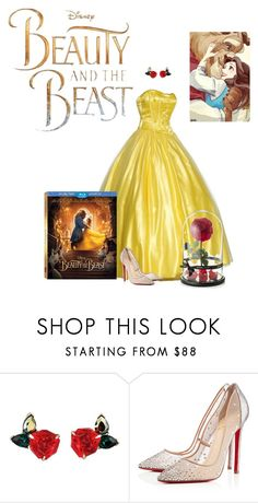 """beauty and the beast"" by americajackson ❤ liked on Polyvore featuring Disney, Christian Louboutin, BeautyandtheBeast and contestentry"