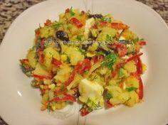 Salata orientala extra Oriental, Romanian Food, Potato Salad, Potatoes, Gluten Free, Chicken, Cooking, Ethnic Recipes, Food Ideas