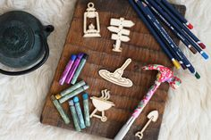 Camping set of 5 pcs laser cut plywood cutouts with engraving for DIY projects craft supplies by woodandroot. the best idea for art therapy :) ! (Craft Supplies & Tools  Scrapbooking Supplies  Embellishments & Die Cuts  wood  unfinished  Supplies  scrapbooking badge  pin  brooch  Patches  drawing  camping  picnic  travel  scout)