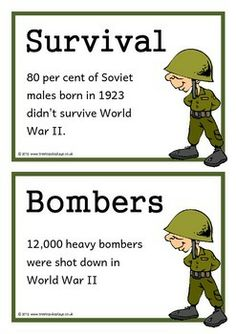 World War Two Fact Cards - Treetop Displays - Downloadable EYFS ...