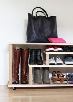 DIY Shoe Rack via Home Depot