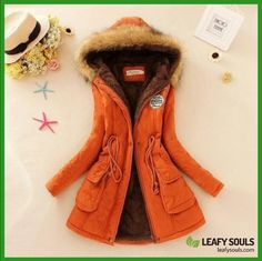 Winter Coat Women 2016 New Parka Casual Outwear Military Hooded Thickening Cotton Coat Winter Jacket Fur Coats Women Clothes Ladies Hooded Coats, Coats For Women, Trent Coat, Plus Size Hoodies, Mode Mantel, Duffle, Fur Collar Jacket, Women's Jackets, Fall Clothes