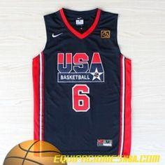 Nike Camiseta 1992 USA Ewing #6 azul nueva pano