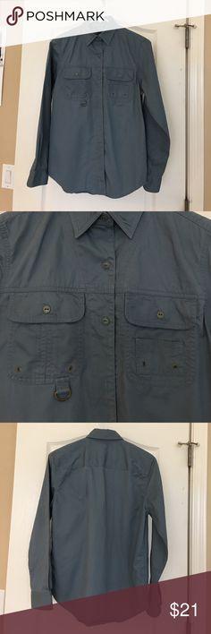 Ralph Lauren shirt Button down shirt. Long sleeves. Light blue denim color Lauren Ralph Lauren Tops Button Down Shirts