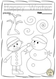 Help your child develop their pre-writing and fine motor skills with «Winter Tr. - Help your child develop their pre-writing and fine motor skills with «Winter Tr. Help your child develop their pre-writing and fine motor skills wit. Tracing Worksheets, Kindergarten Worksheets, Coloring Worksheets, Pre Kindergarten, Preschool Writing, Preschool Activities, Community Helpers Worksheets, Christmas Worksheets, Preschool Coloring Pages