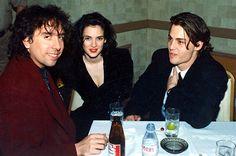 Tim Burton, Winona Ryder, and Johnny Depp (1990)