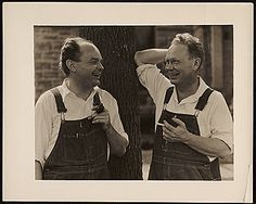 John Steuart Curry and Grant Wood, ca. John Steuart Curry and Curry family papers, Archives of American Art, Smithsonian Institution. Artist Art, Artist At Work, Modern Prints, Modern Art, John Steuart Curry, Ben Shahn, Art Grants, John Stewart, Social Realism