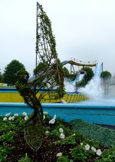 The new River Ride garden is now ready, complete with this super Windsurfer!