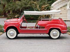 Fiat 600 Ghia Jolly, a summertime dream - Italian Ways Fiat 500, My Dream Car, Dream Cars, Vintage Cars, Antique Cars, Gianni Agnelli, Ac Schnitzer, Beach Cars, Fiat Cars