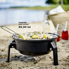 KORPÖN portable charcoal barbecue from ikea Ikea Portugal, Gas Grill Reviews, Portable Charcoal Grill, Charcoal Briquettes, Ikea Us, Design Your Life, Outdoor Cooking, Outdoor Kitchens, Decoration