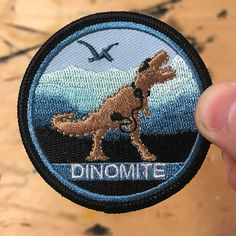 Dinomite Patch Free Shipping US by FortheWinInc on Etsy