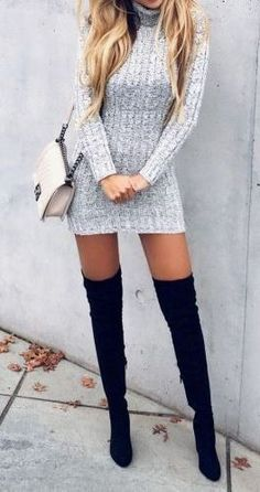 25 Ways To Wear Thigh High Boots This Fall