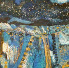 """Saatchi Art Artist Martina  Furlong; Painting, """"A Blue Sky At Night"""" #art"""