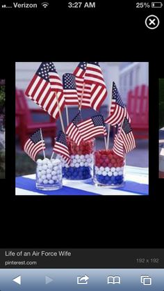 Edible and beautiful! Red White and Blue Centerpieces - MilitaryAvenue.com