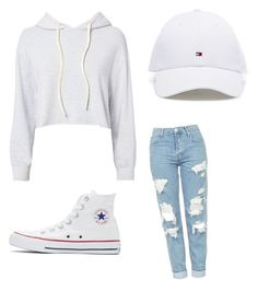 """Untitled #2"" by bellefaye on Polyvore featuring Monrow, Topshop and Converse"