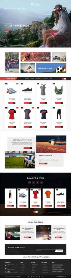Ornaldo is clean and modern design 4in1 responsive WooCommerce #WordPressTemplate for stunning #sport #shopping eCommerce #website to live preview & download click on image or Visit