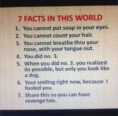 7 facts all should know